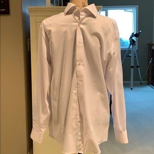 Men's white dress shirt